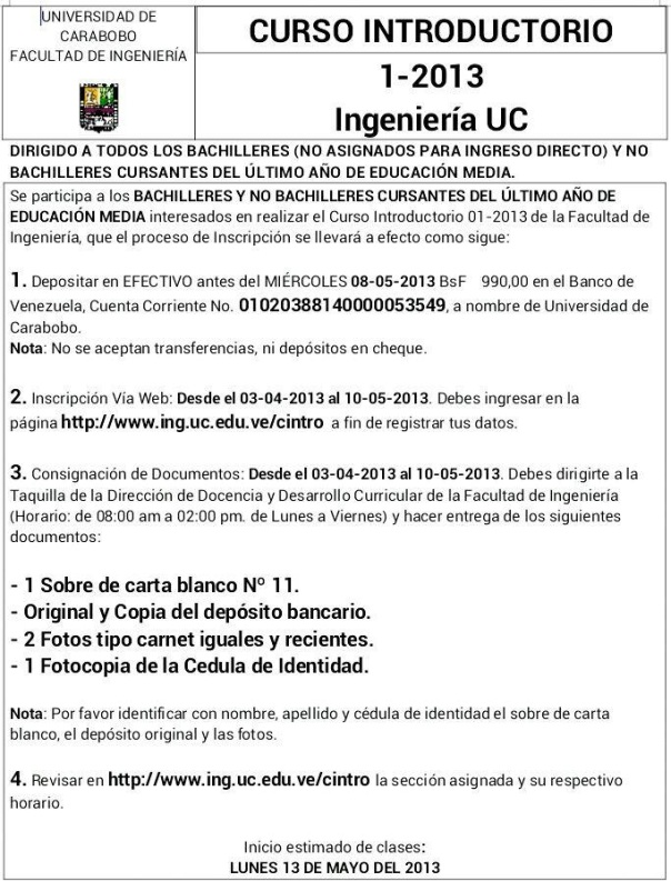 Curso Introductorio Facultad de Ingenieria UC